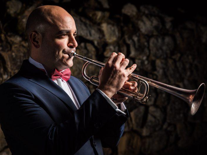 Fotografía de retrato con Jesús M. Núñez, músico trompetista