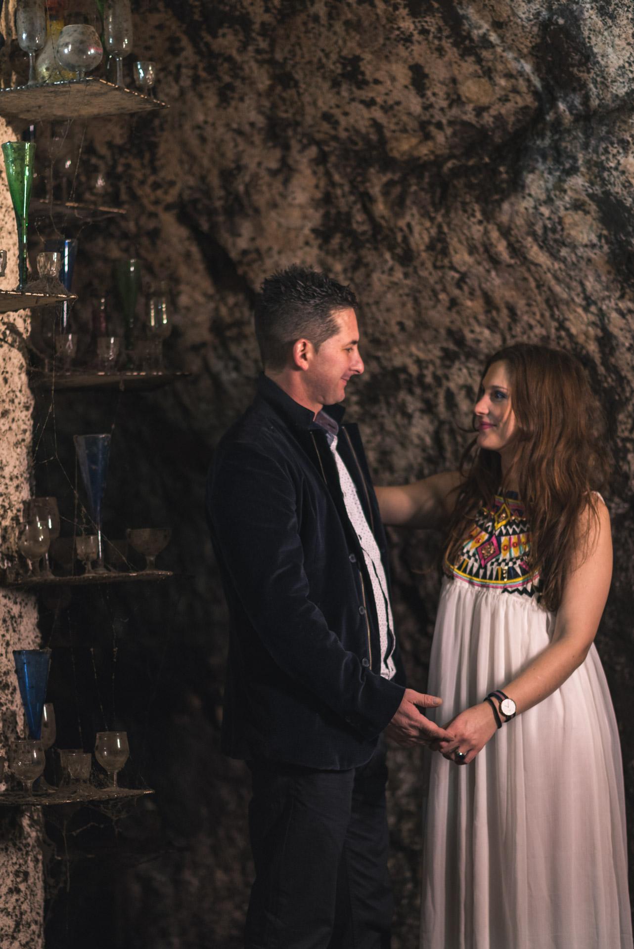 fotografía de pareja en bodegas mocen rueda valladolid